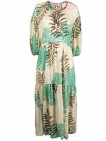 Thumbnail for your product : Anjuna Elle foliage-print smock dress