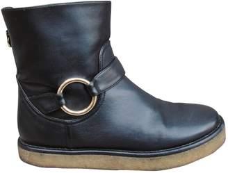 Stella McCartney Stella Mc Cartney Black Leather Ankle boots