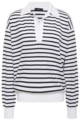 Theory Striped Merino Wool-blend Top