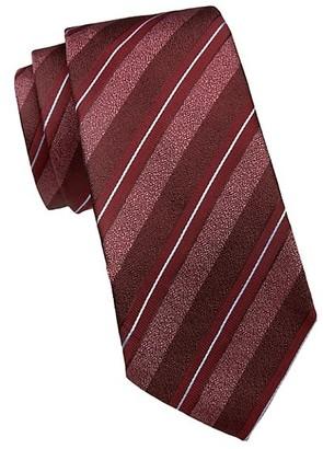 Emporio Armani Diagonal Stripe Silk-Blend Tie