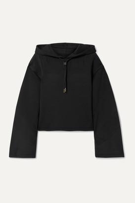 Nike Cropped Laser-cut Dri-fit Hoodie - Black