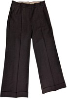 Sportmax Anthracite Wool Trousers for Women