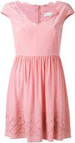 RED Valentino scallop tea dress - women - Silk/Polyester - 38