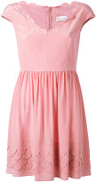 RED Valentino scallop tea dress - women - Silk/Polyester - 40