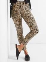 Leopard true skinny ankle jeans