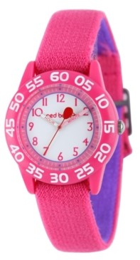 EWatchFactory Red Balloon Girls' Pink Plastic Time Teacher Watch