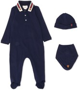 Gucci Kids pajamas, hat and bib set