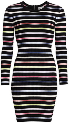 Milly Multi-Stripe Knit Bodycon Dress
