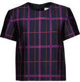 Carven Glittered Checked Crepe Top