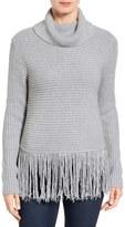 MICHAEL Michael Kors Women's Fringe Turtleneck Sweater