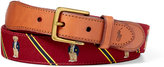 Polo Ralph Lauren Bear–Overlay Webbed Belt