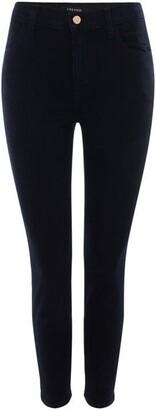 J Brand Allanah Hih Rise Cropped Skinny Jean