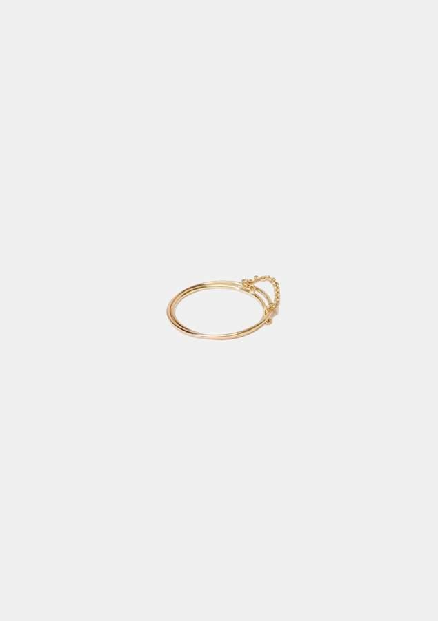 Saskia Diez Double Wire Ring Rose