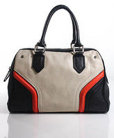 Milly Multi-Color Colorblocked Leather Adjustable Crossbody Bag Small