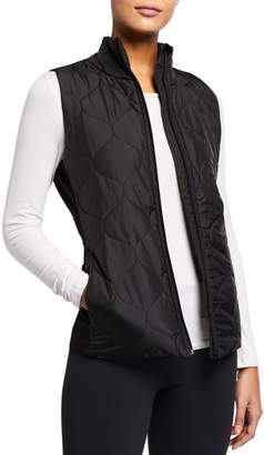 Tahari Sport Nance Mix-Media Puffer Vest
