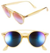Ray-Ban Women's 51Mm Mirrored Rainbow Sunglasses - Light Blue Rainbow