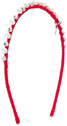 MonnaLisa Embellished Logo-Charm Headband