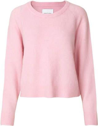 Samsoe & Samsoe Pink Lady Mel Nor O Neck Knit Sweater - L - Pink
