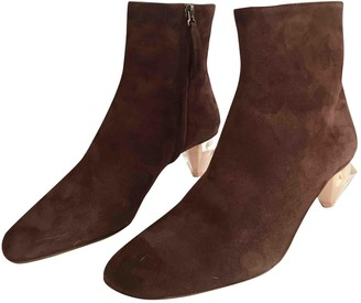 Gray Matters Brown Suede Ankle boots