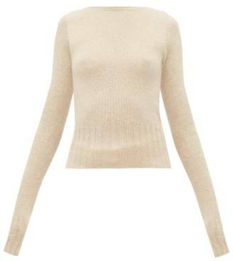 Lemaire Boat Neck Wool Sweater - Womens - Beige