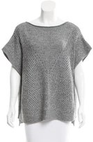 Halston Wool Open-Knit Sweater