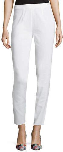 Misook Slim-Leg Pull-On Pants
