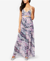 Rachel Roy Floral-Print Cutout Maxi Dress