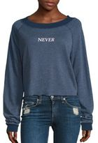 Wildfox Couture Never Ending Weekend Cropped Sweatshirt