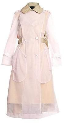 Simone Rocha Women's Sheer Tulle Trench Coat