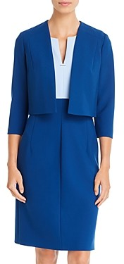 HUGO BOSS Jikiva Cropped Open-Front Jacket
