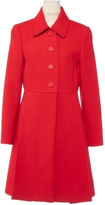 Miu Miu Red Wool Coat for Women