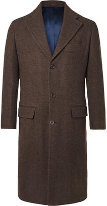 Rubinacci Herringbone Virgin Wool And Cashmere-Blend Overcoat