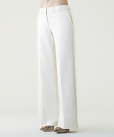 Shape Fx White Classic Wide-Leg Pants