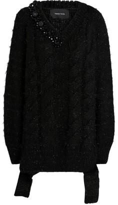 Simone Rocha Embellished V-Neck Sweater