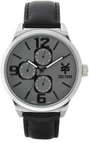 Zoo York Mens Black And Silvertone Strap Watch