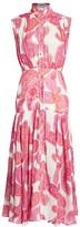 Zimmermann Peggy Sleeveless Paisley-Print Midi Shirtdress