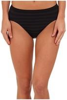 Jockey Comfies(r) Matte Shine Hi Cut (Black) Women's Underwear