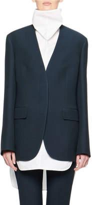 The Row Murray Collarless Wool Jacket