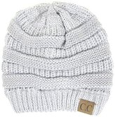 Cambridge Select Women's Winter White Ivory Thick Slouchy Knit Beanie Cap Hat