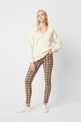 French Connection Tilly Check 5 Pocket Skinny Jeans