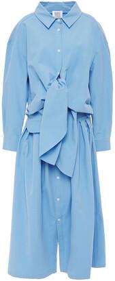 Rosie Assoulin Knotted Cotton-poplin Shirt Dress