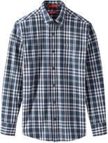 Joe Fresh Men's Melange Flannel Shirt, Navy (Size XS)