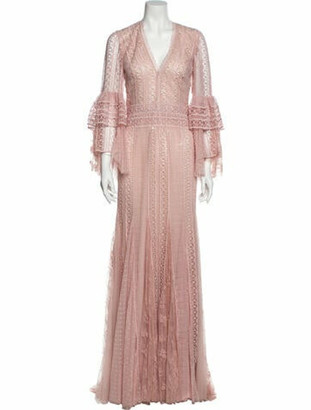Costarellos 2016 Long Dress w/ Tags Pink