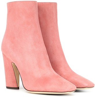 Jimmy Choo Mirren 100 suede ankle boots