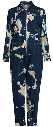 Stella McCartney Organic Stretch-Cotton Denim All-In-One Jumpsuit
