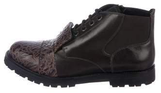 Neil Barrett Embossed Ankle Boots