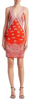 Roberto Cavalli Bandana Print Jacquard Dress