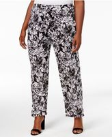 NY Collection Petite Plus Size Printed Palazzo Pants, Created for Macy's