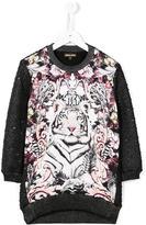 Roberto Cavalli tiger glitter detail dress