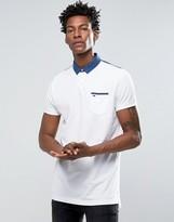 Tommy Hilfiger Pocket Polo Contrast Collar in Regular Fit